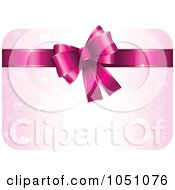Royalty Free Vector Clip Art Illustration Of A Pink Heart Valentine Gift Card With A Bow