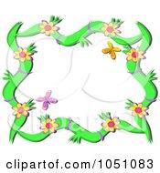 Floral Butterfly Vine Frame