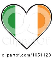 Royalty Free Vector Clip Art Illustration Of A Heart With Irish Flag Stripes by Maria Bell