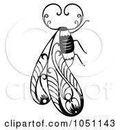 Royalty Free Vector Clip Art Illustration Of A Decorative Bug Design by Cherie Reve #COLLC1051143-0099