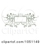 Royalty Free Vector Clip Art Illustration Of A Decorative Green Vine Frame by Cherie Reve