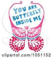 Butterfly With You Are Butterfly Inside Me Text