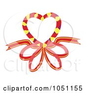 Royalty Free Vector Clip Art Illustration Of A Heart With A Ribbon
