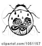 Royalty Free Vector Clip Art Illustration Of A Decorative Lady Bug by Cherie Reve