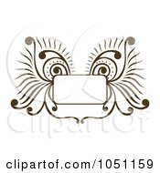 Royalty Free Vector Clip Art Illustration Of A Decorative Brown Wing Frame by Cherie Reve