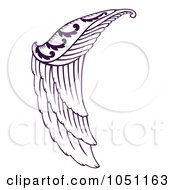 Royalty Free Vector Clip Art Illustration Of A Purple Angel Wing by Cherie Reve