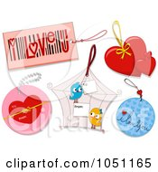 Royalty Free Vector Clip Art Illustration Of A Digital Collage Of Valentines Day Tags 1 by BNP Design Studio