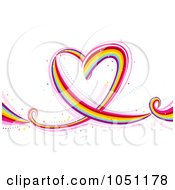 Royalty Free Vector Clip Art Illustration Of A Flowing Rainbow Heart
