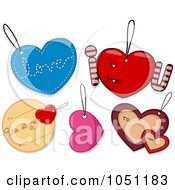 Royalty Free Vector Clip Art Illustration Of A Digital Collage Of Valentines Day Tags 2