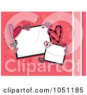 Royalty Free Vector Clip Art Illustration Of Retro Styled Frames Bordered In Valentine Hearts On Pink