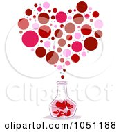 Royalty Free Vector Clip Art Illustration Of A Bottle Of Love Potion