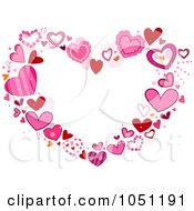 Royalty Free Vector Clip Art Illustration Of A Heart Frame Of Pink Hearts