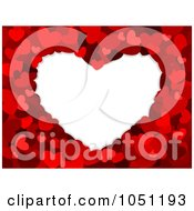Royalty Free Vector Clip Art Illustration Of A White Heart Framed In Red Hearts