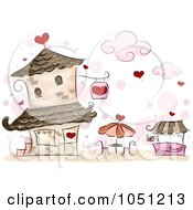 Royalty Free Vector Clip Art Illustration Of A Romantic Valentine Cafe