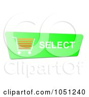 Royalty Free RF Clip Art Illustration Of A Green And Orange Select Shopping Cart Button