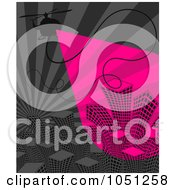 Royalty Free Vector Clip Art Illustration Of A Helicopter Over Skyscrapers On Pink And Gray by elena
