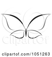 Royalty Free Vector Clip Art Illustration Of A Black And White Butterfly Logo 7