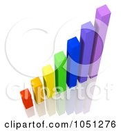 Royalty Free 3d Clip Art Illustration Of A 3d Colorful Bar Graph