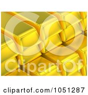 Royalty Free 3d Clip Art Illustration Of 3d Stacked Gold Bars by ShazamImages