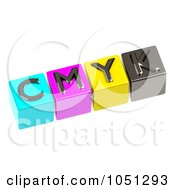 Royalty Free 3d Clip Art Illustration Of 3d CMYK Letter Cubes by ShazamImages