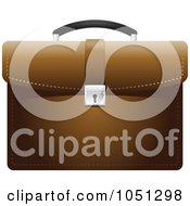 Royalty Free Vector Clip Art Illustration Of A Brown Business Briefcase