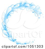 Royalty Free Vector Clip Art Illustration Of A Blue Splash Wave Curling by elaineitalia