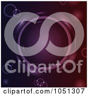 Royalty Free Vector Clip Art Illustration Of A Background Of An Abstract Metallic Circle In Purple And Red