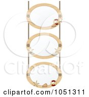 Royalty Free Vector Clip Art Illustration Of Three Oval Nautical Frames With White Space