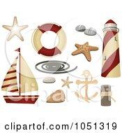 Royalty Free RF Sea Shell Clipart Illustrations Vector