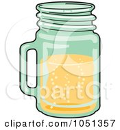 Royalty Free Vector Clip Art Illustration Of A Bubbly Beverage In A Glass Mug by Andy Nortnik