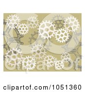 Royalty Free Vector Clip Art Illustration Of A Tan Background Of Gears