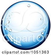 Royalty Free 3d Vector Clip Art Illustration Of A 3d Blue Pure Water Droplet On White