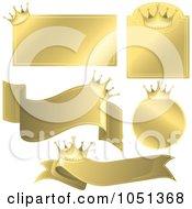 Digital Collage Of Golden Crown Labels