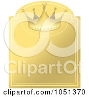 Royalty Free Vector Clip Art Illustration Of A Golden Crown Label 2