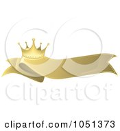 Royalty Free Vector Clip Art Illustration Of A Golden Crown Label 5 by dero