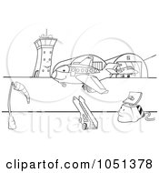 Royalty Free Vector Clip Art Illustration Of An Outline Of An Airport Runway by dero