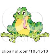 Royalty Free Vector Clip Art Illustration Of A Frog Hanging His Tongue Out by visekart