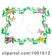 Floral Butterfly Frame 3