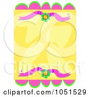Yellow And Pink Floral Background