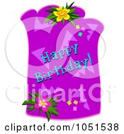 Happy Birthday Greeting With Flowers