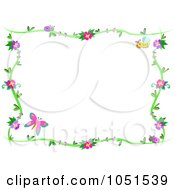 Royalty Free Vector Clip Art Illustration Of A Floral Butterfly Frame 1