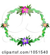 Hibiscus Floral Frame