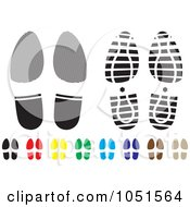 Royalty Free Vector Clip Art Illustration Of A Digital Collage Of Colorful Shoe Tracks