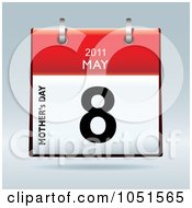 Royalty Free Vector Clip Art Illustration Of A 3d Mothers Day May 8 2011 Flip Desk Calendar by michaeltravers