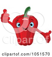 Royalty Free Vector Clip Art Illustration Of A Happy Red Bell Pepper Character