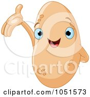 Royalty Free Vector Clip Art Illustration Of A Happy Potato Character by Pushkin