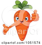 Happy Carrot Character