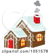 Royalty Free Vector Clip Art Illustration Of Smoke Rising From A Gingerbread House Chimney