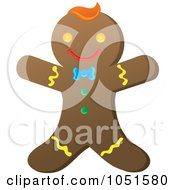 Royalty Free Vector Clip Art Illustration Of A Happy Gingerbread Man
