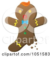 Royalty Free Vector Clip Art Illustration Of A Bitten Gingerbread Man by Rosie Piter